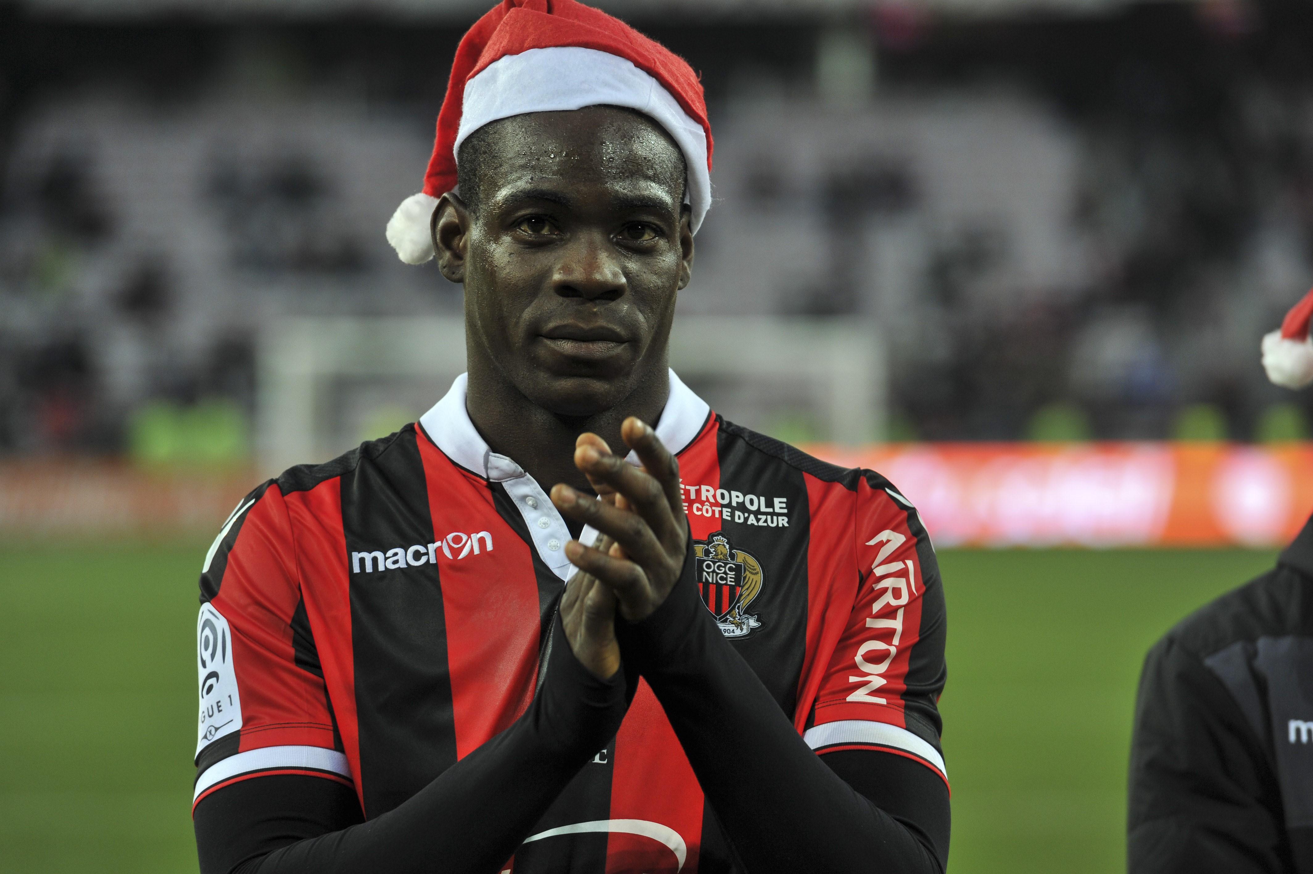 Mario Balotelli, le père Noël de l'OGC Nice.