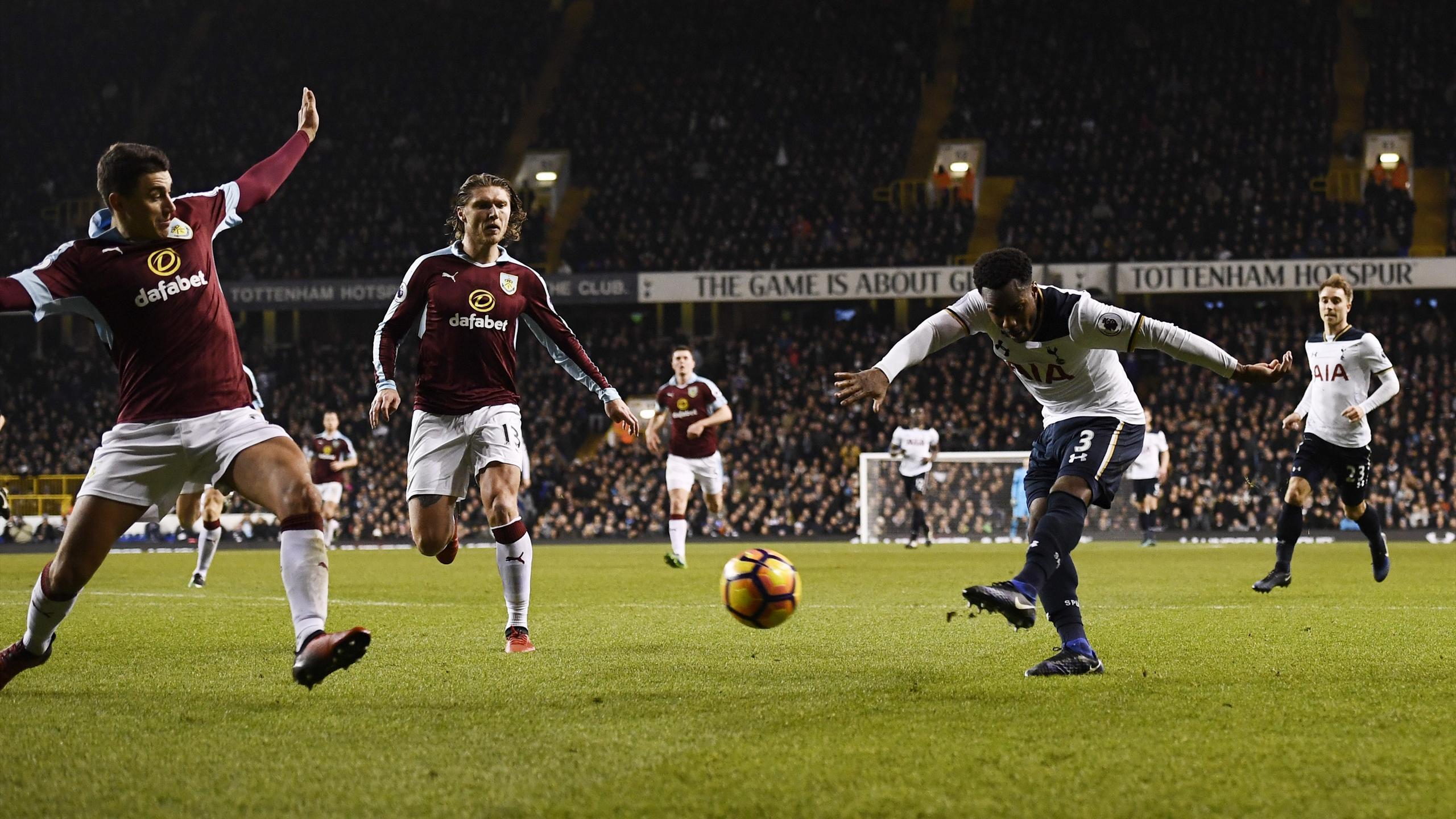 Tottenham's Danny Rose scores their second goal