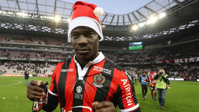 Balotelli double puts Nice seven points clear of PSG