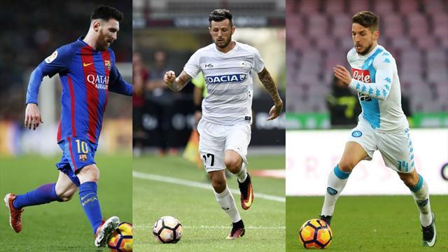 Avec Messi et Mertens, Théréau est bien entouré dans l'équipe du week-end