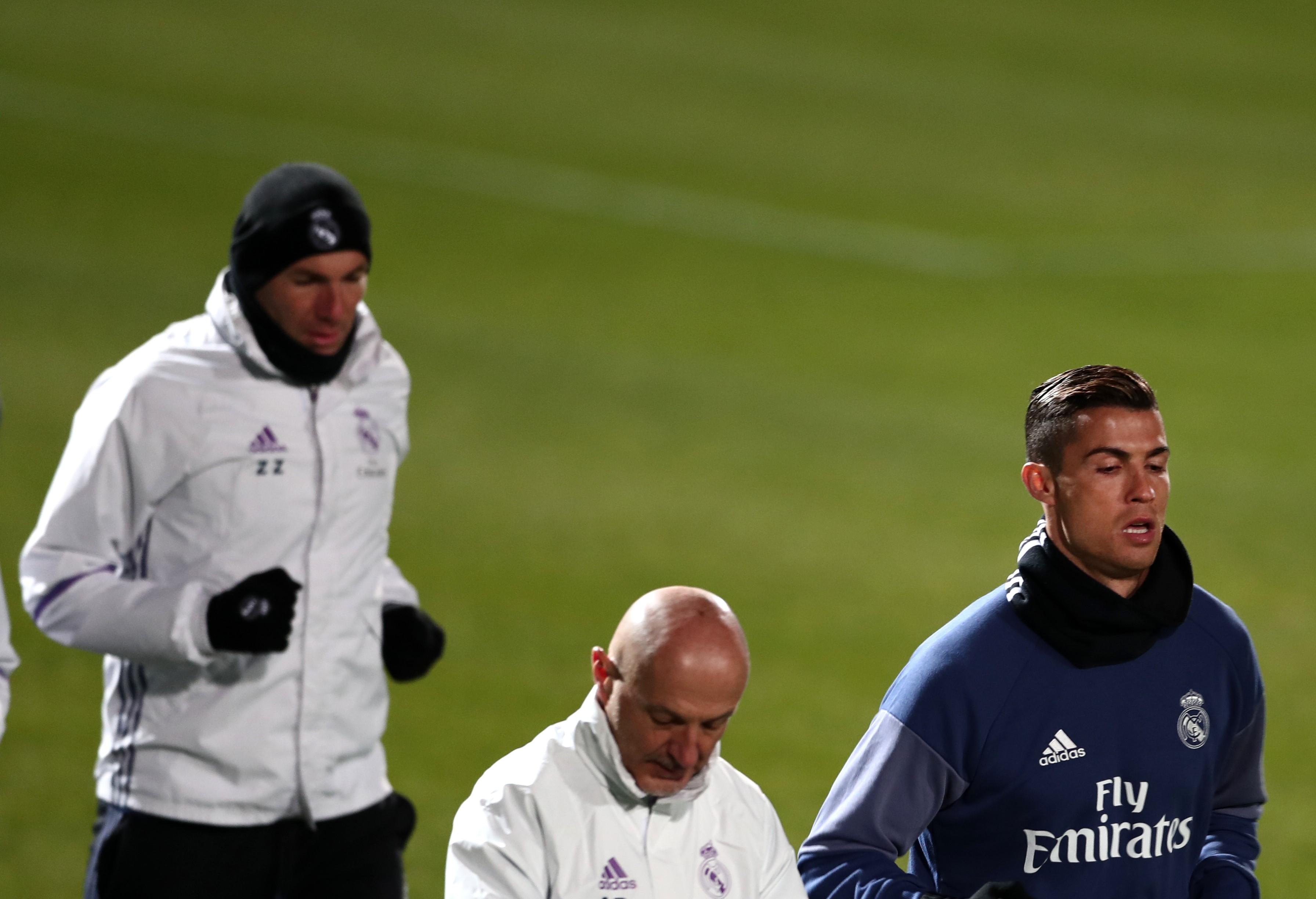 Zidane, Pintus y Cristiano Ronaldo, Real Madrid