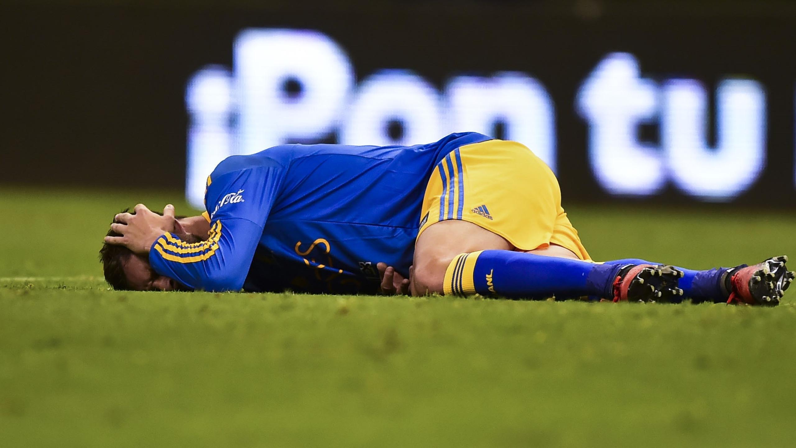 André-Pierre Gignac (Tigres), blessé durant le match aller de la finale du championnat mexicain