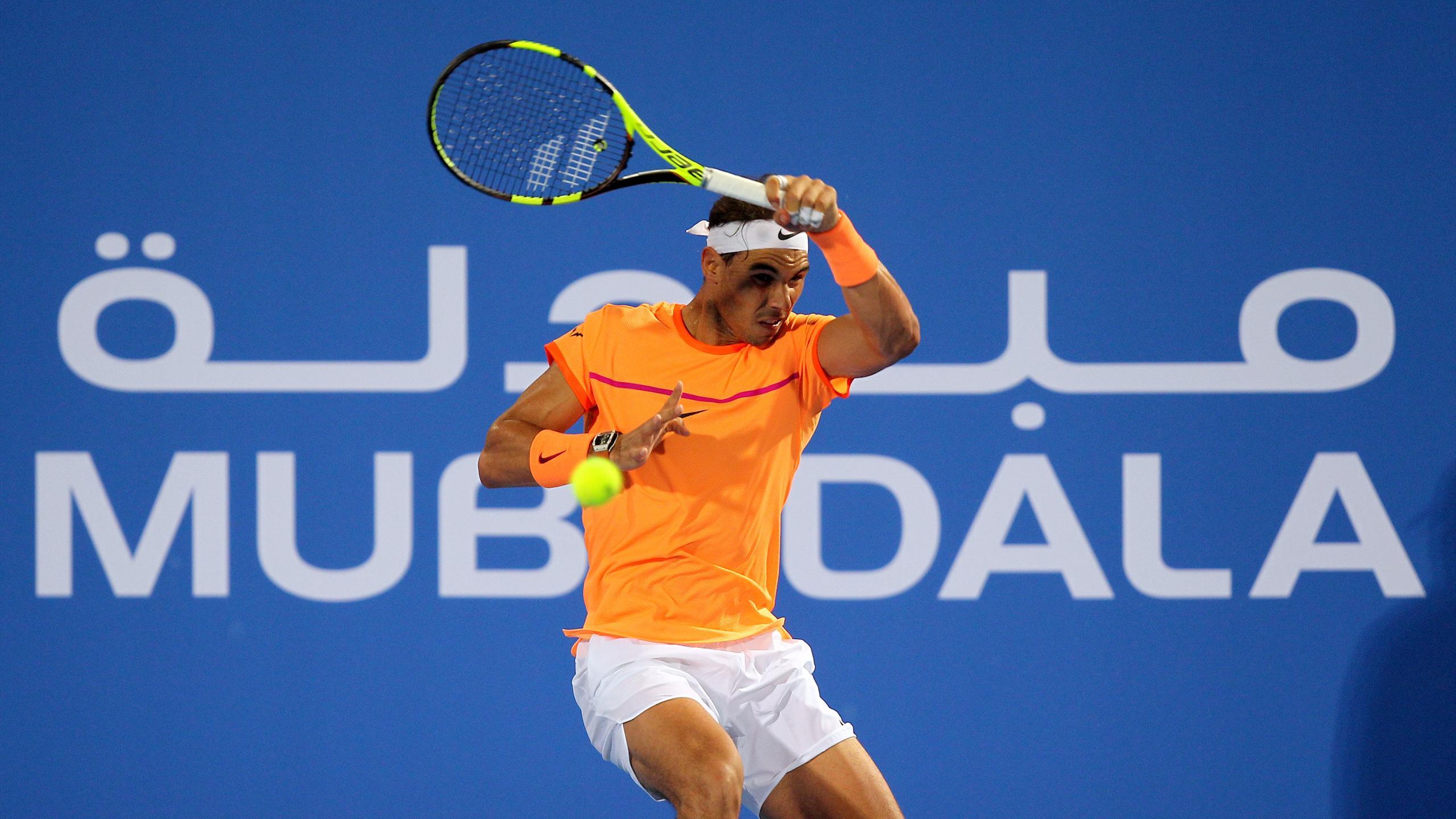 Rafael Nadal lors du tournoi d'Abou Dhabi