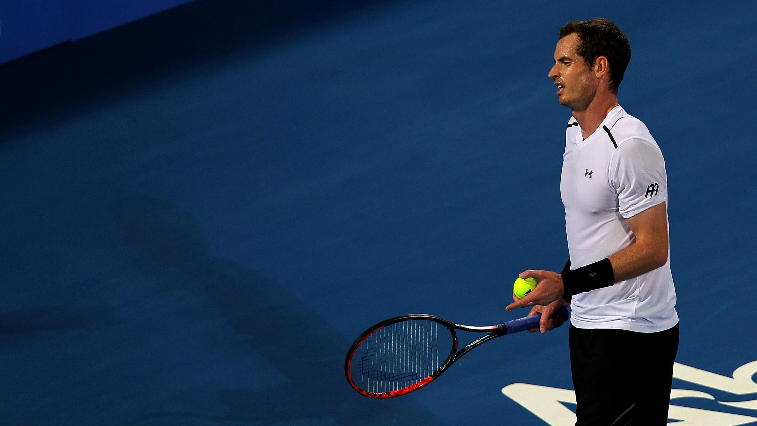 Andy Murray, battu par David Goffin lors du tournoi exhibition de Mubadala