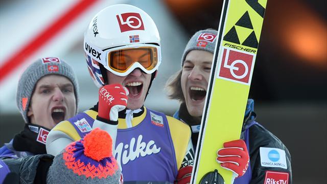 Vídeo: Así fue el salto del noruego Daniel Tande para ganar en Garmisch-Partenkirchen