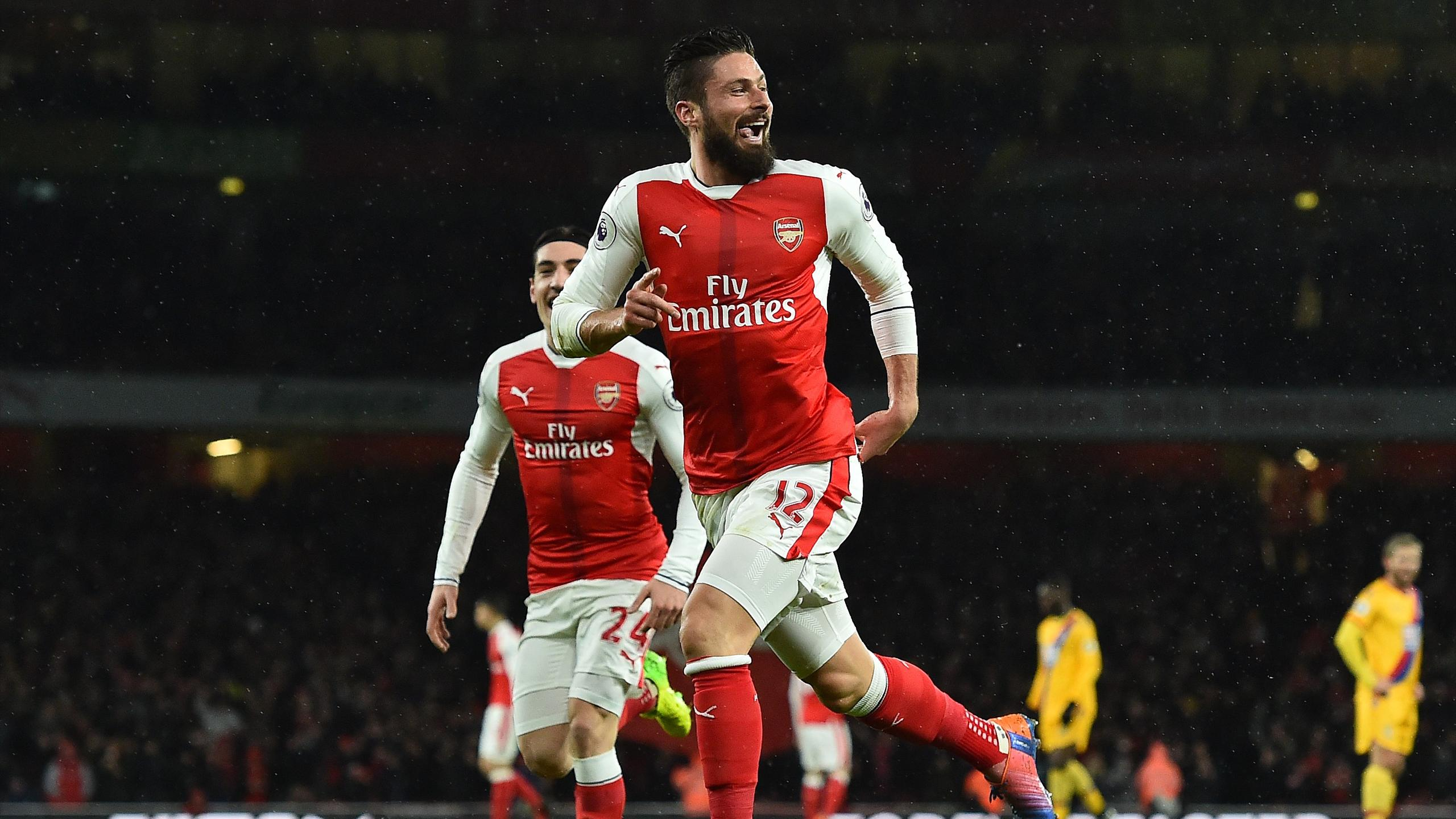 Olivier Giroud (Arsenal), buteur contre Crystal Palace