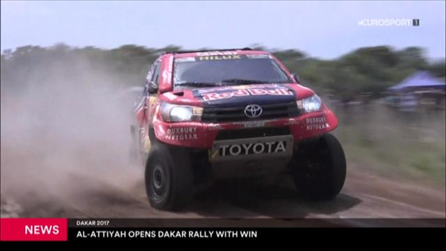 Al-Attiyah towed from the finish line after setting pace in opening stage of Dakar Rally