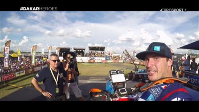 Watch a driver's eye view at the Dakar Rally as racers wow crowds in Paraguay