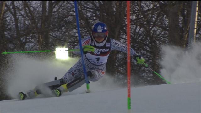 Bestzeit im 1. Slalom-Lauf von Zagreb für Velez-Zuzulova