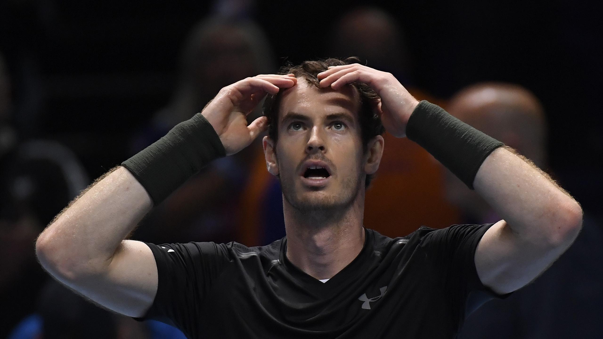 Andy Murray lors de la finale du Masters de Londres.