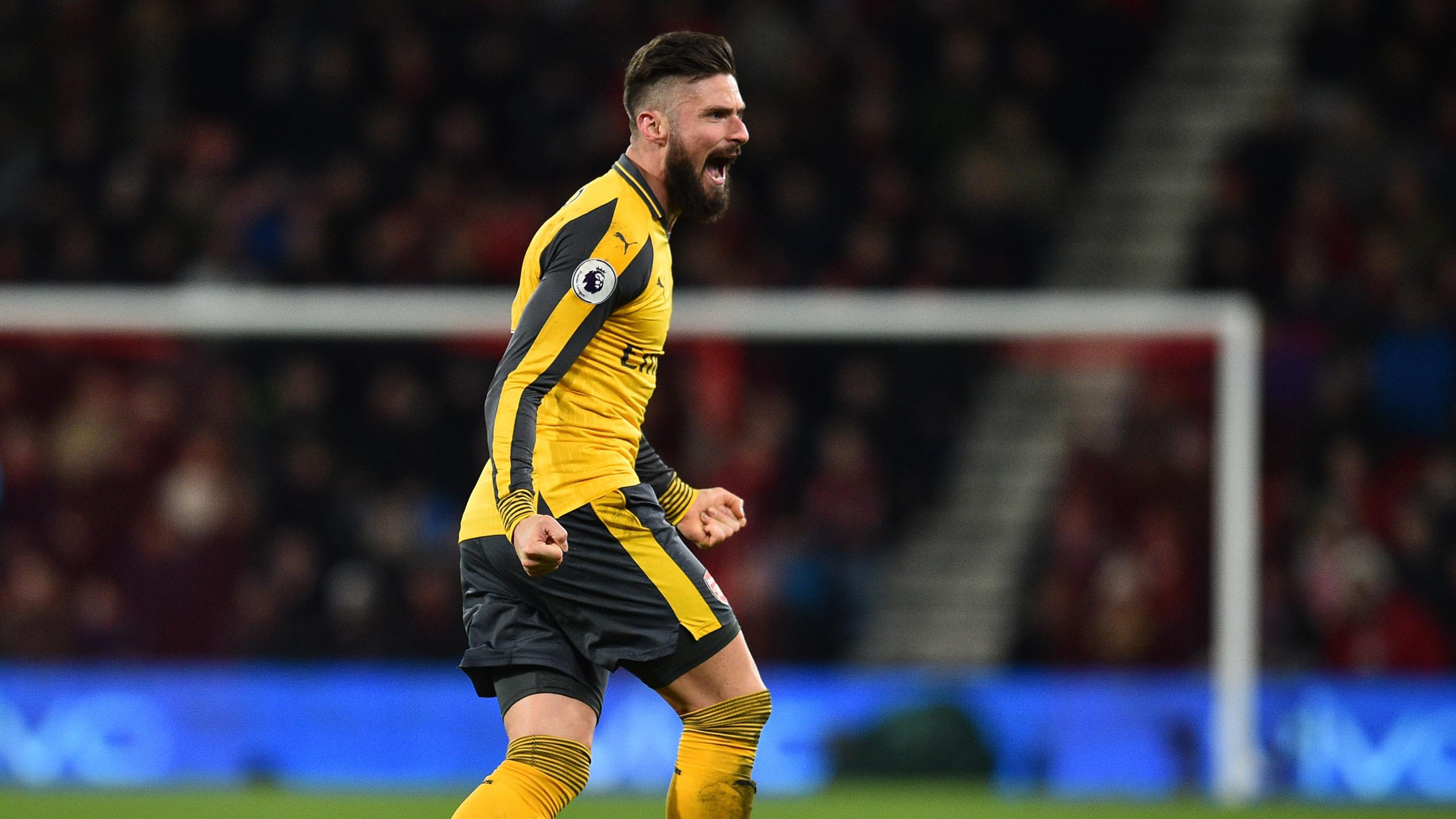 Olivier Giroud, buteur avec Arsenal contre Bournemouth