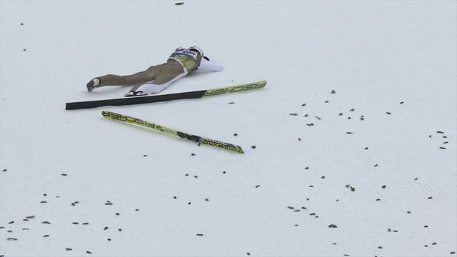 Стох тренировочным прыжком улетел почти в Бугульму, но упал при приземлении