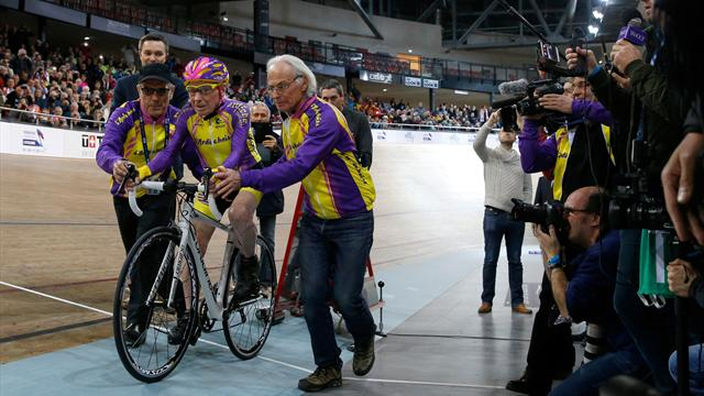 PHOTOS: 105-year-old Frenchman cycles into history with hour-long ride