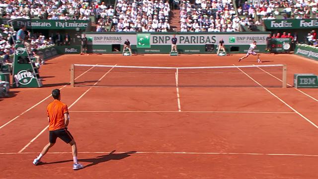 L'incredibile rovescio vincente di Wawrinka nella finale del Roland Garros 2015 contro Djokovic