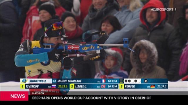 Biathlon: Österreicher Eberhard siegt in Oberhof im Sprint