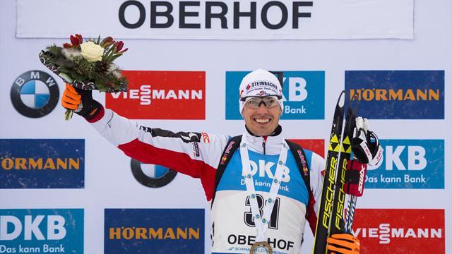 Eberhard secures first victory of season in Oberhof