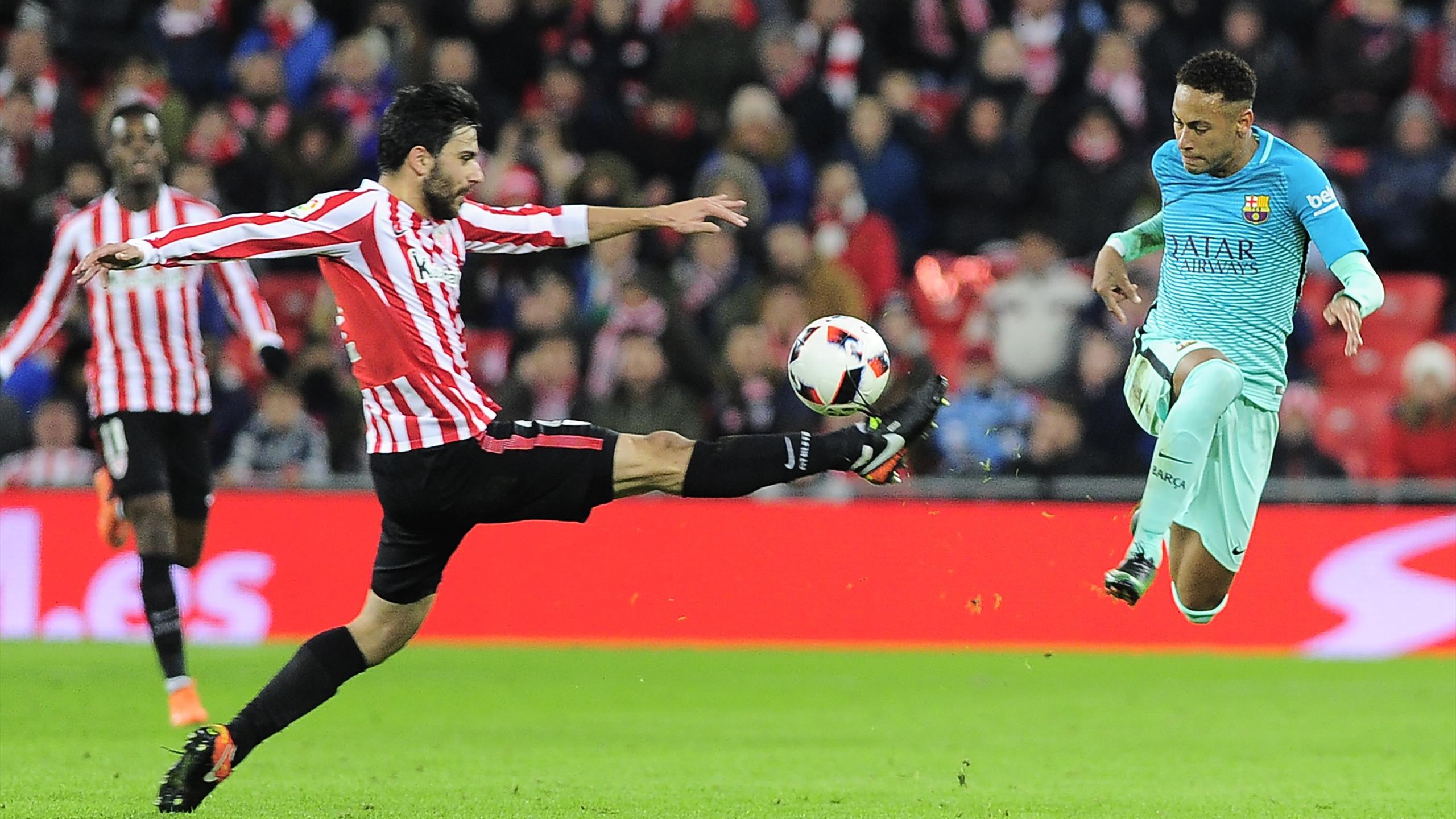 L'élégance d'Eneko Boveda (Athletic Bilbao) devant Neymar (FC Barcelone)