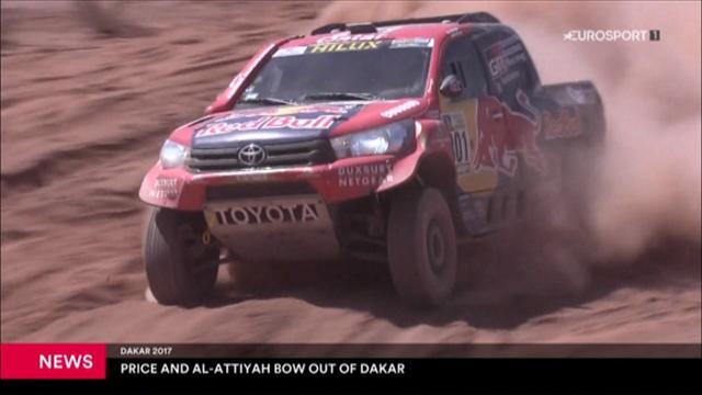 Dakar: Nasser Al-Attiyah e Toby Price costretti al ritiro