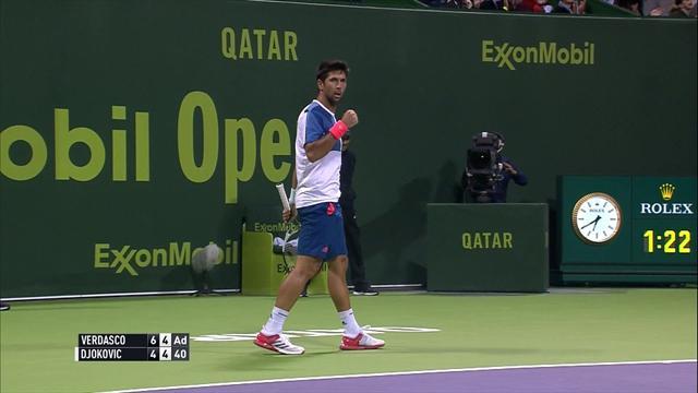 Fernando Verdasco lands brilliant lob against Djokovic