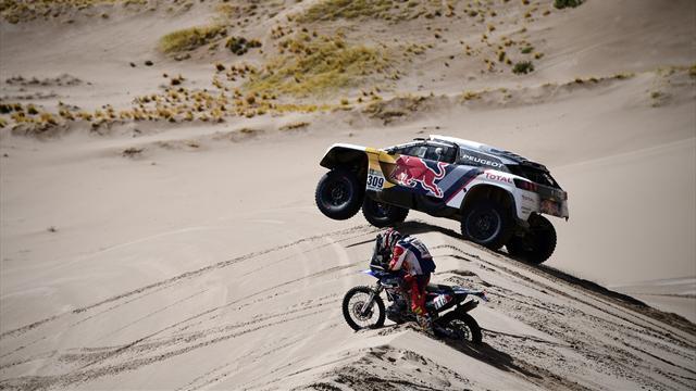 Etape raccourcie en Bolivie, Sunderland nouveau leader en moto