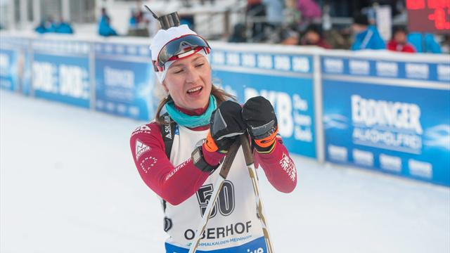 Domracheva shows off Olympic credentials with sprint biathlon victory