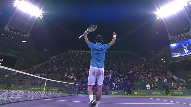 Highlights: Djokovic saves five match points before battling past Verdasco