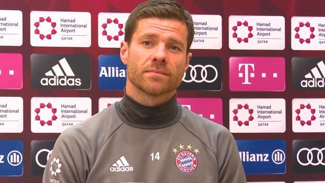 Bayern Munich training in Doha during Bundesliga winter break