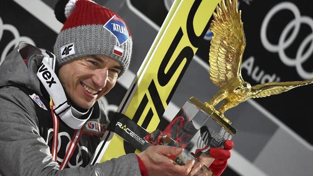 Kamil Stoch gana el Cuatro Trampolines tras imponerse en Bischofshofen