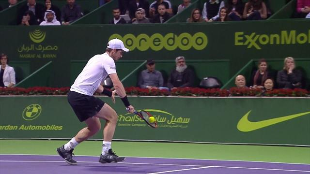 Murray shows class with lovely drop shot