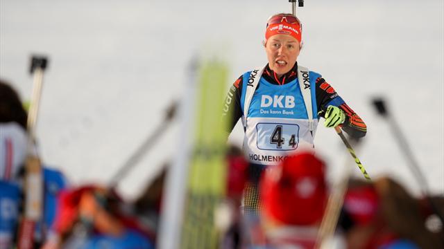 Führung im Gesamtweltcup knapp verpasst - Dahlmeier in Oberhof Zweite