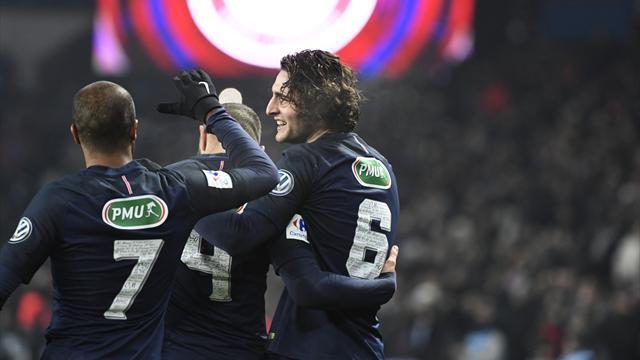 Un coup d'œil, une frappe du gauche et Rabiot a fait le break : le but du 2-0 pour Paris
