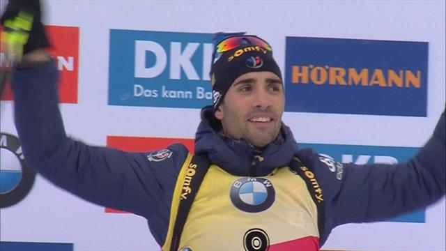 Martin Fourcade breezes to men's pursuit victory in Oberhof