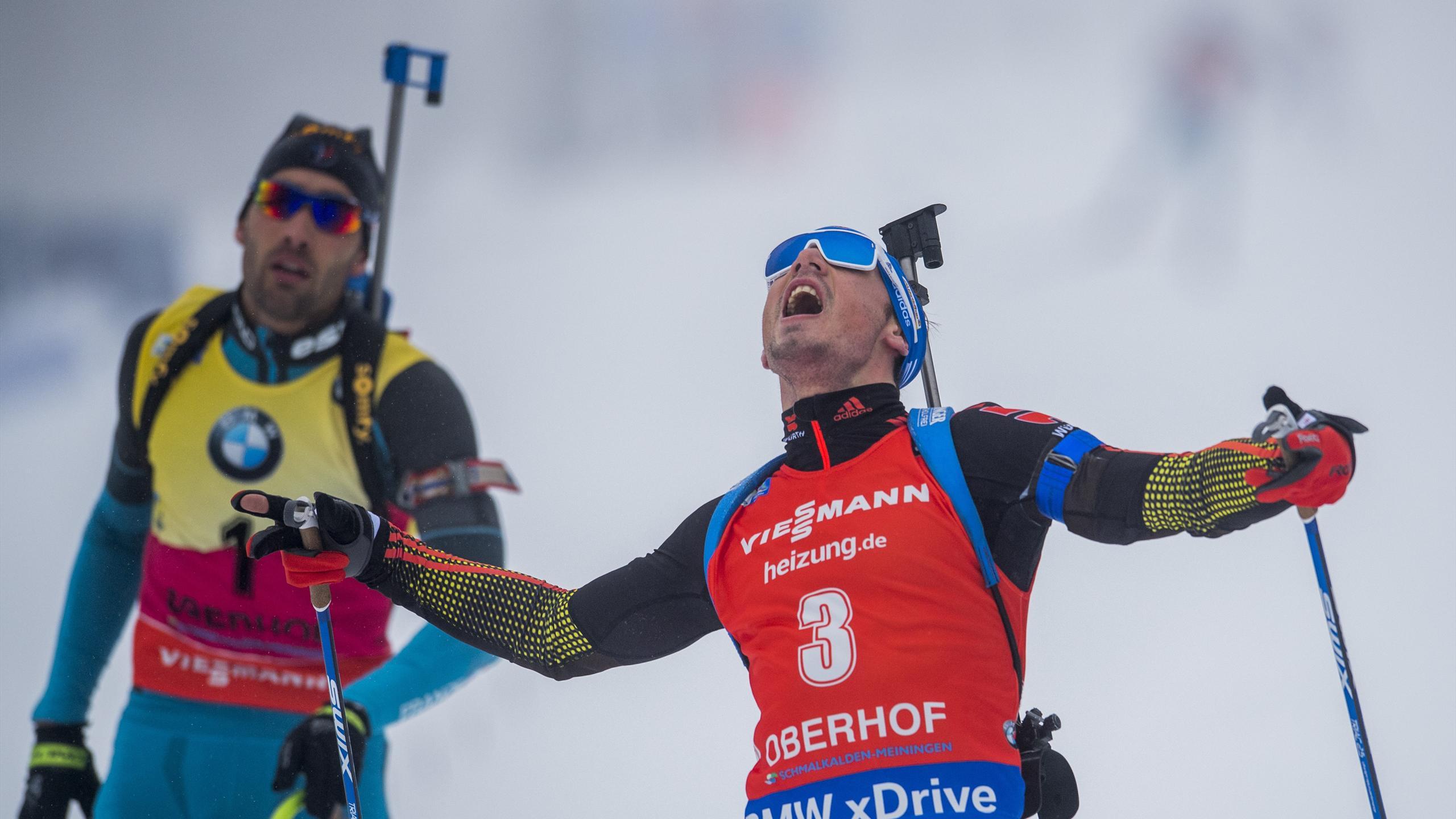 Simon Schempp triumphiert im massenstart von Oberhof vor Dominator Fourcade