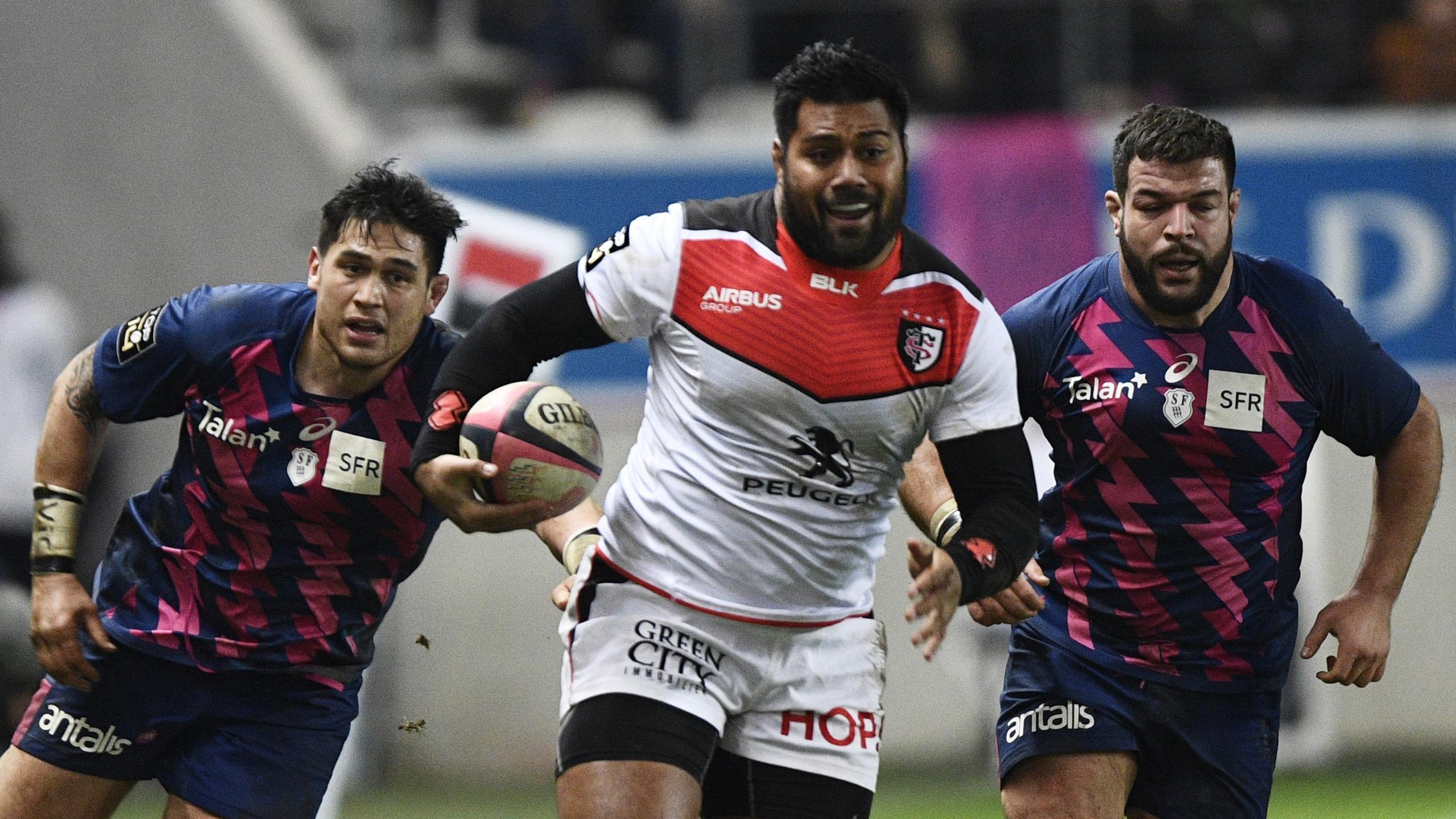 Christopher Tolofua (Toulouse) face au Stade français - 8 janvier 2017