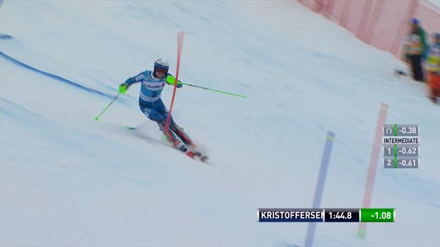 Henrik Kristoffersen claims third World Cup slalom victory of the season