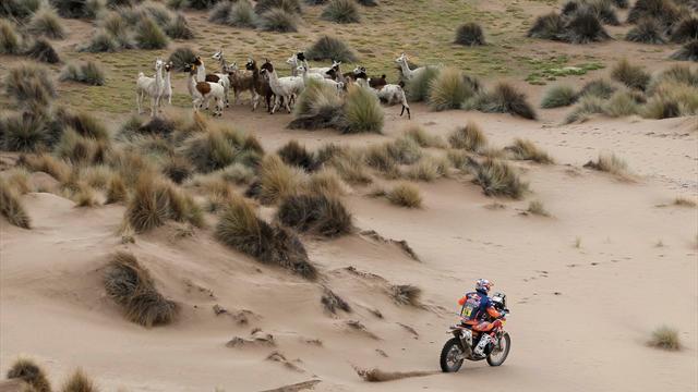 Sam Sunderland extends Dakar Rally lead as Ricky Brabec sprints to victory in Bolivia