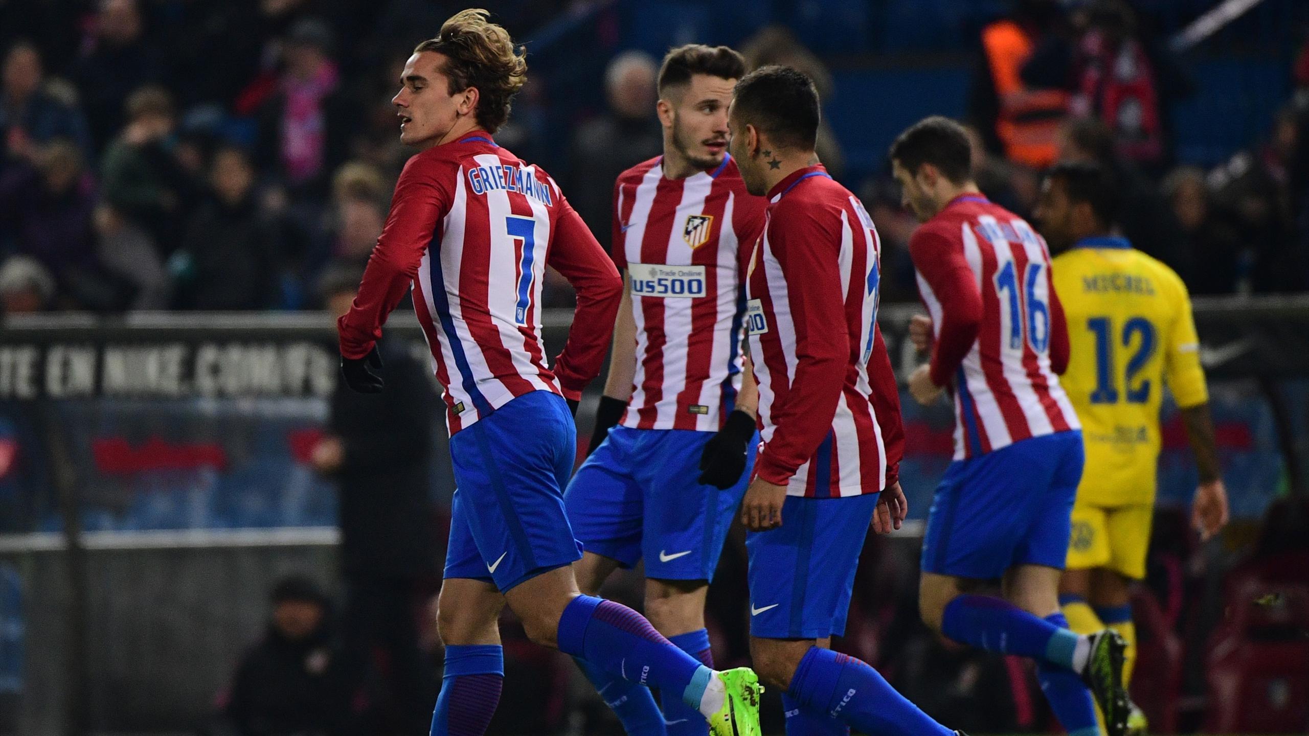 Antoine Griezmann célèbre son but face à Las Palmas en 1/8e de finale retour de Copa del Rey