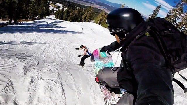 Отчаянный трюк на сноуборде, от просмотра которого волосы превращаются в колья