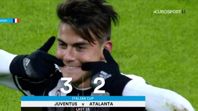 Guidée par Dybala, la Juventus a maîtrisé l'Atalanta et verra les quarts
