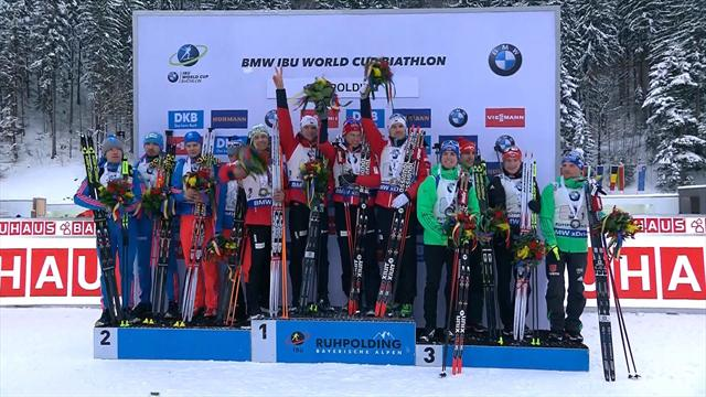 Three in a row for Norway in Ruhpolding