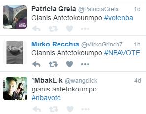 Giannis Antetokounmpo mal écrit pour les votes All-Star