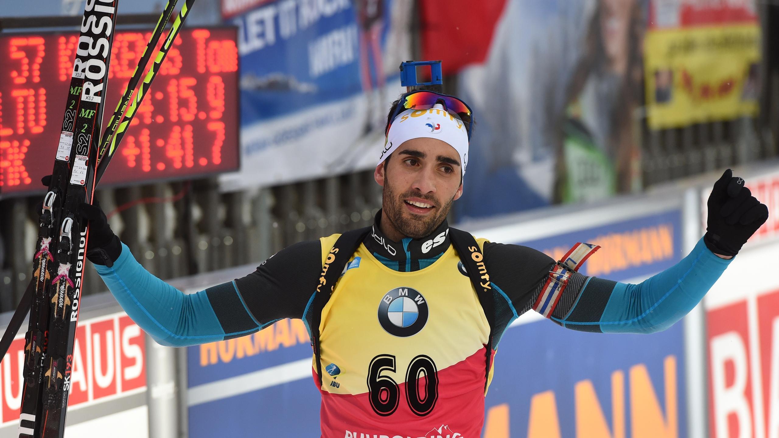 Martin Fourcade, vainqueur du sprint de Ruhpolding