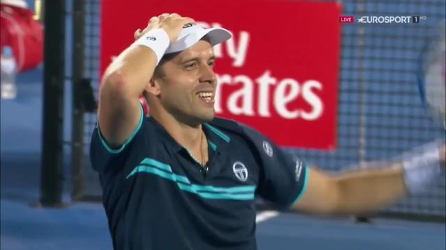 Dan Evans beaten by tearful Muller in Sydney final