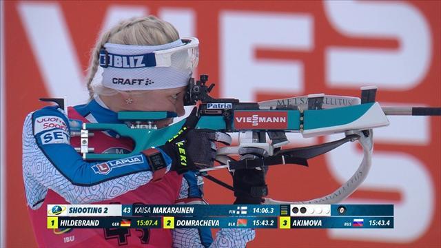 Irréprochable au tir et sans-rival en ski, Mäkäräinen a sorti le sprint parfait