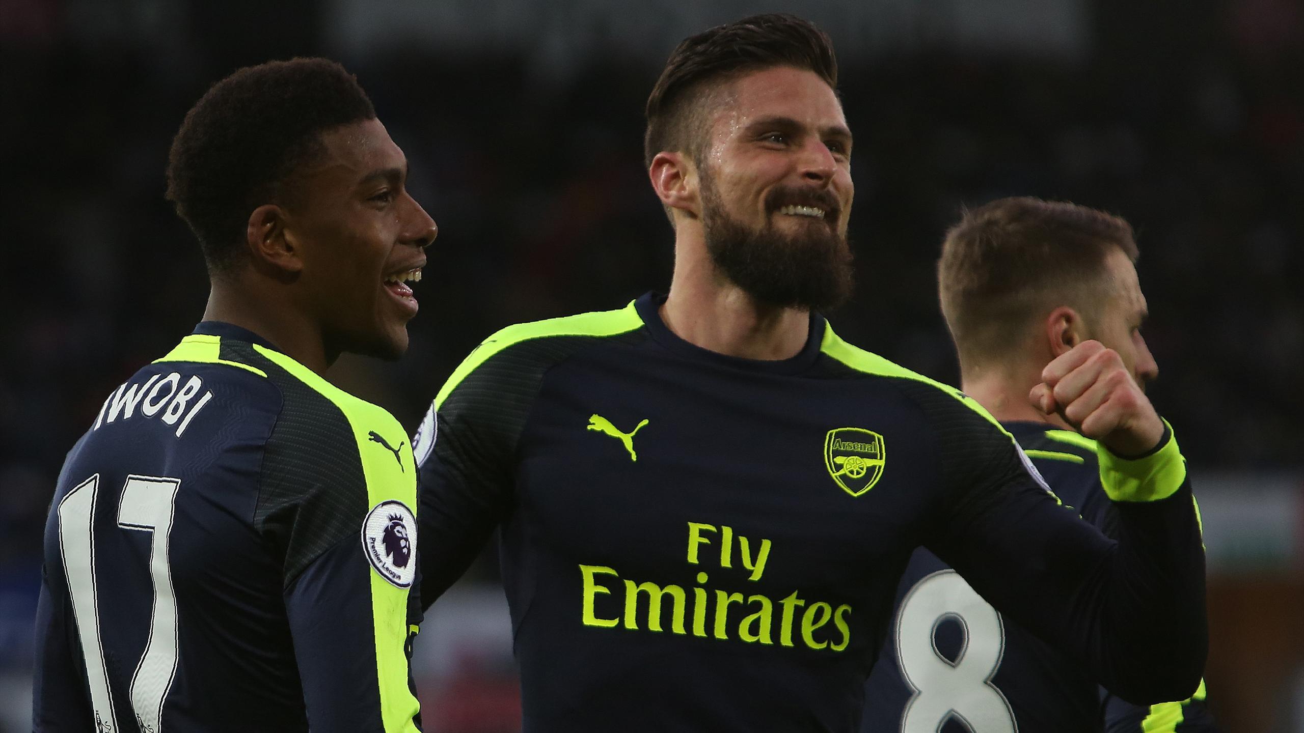 Giroud (Arsenal) lors de la victire face à Swansea