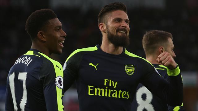 Bien lancé par Giroud, Arsenal revient sur le podium