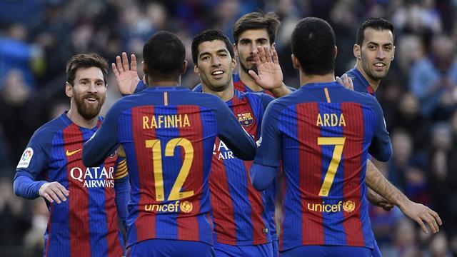 Avec une nouvelle manita, le Barça reste à l'affût
