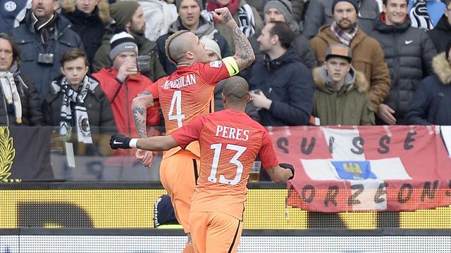 Udinese-Roma 0-1, decide Nainggolan. Dzeko, rigore oltre la criosfera