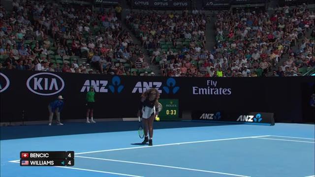 VIDEO: Unbelievable slice backhand winner from Serena