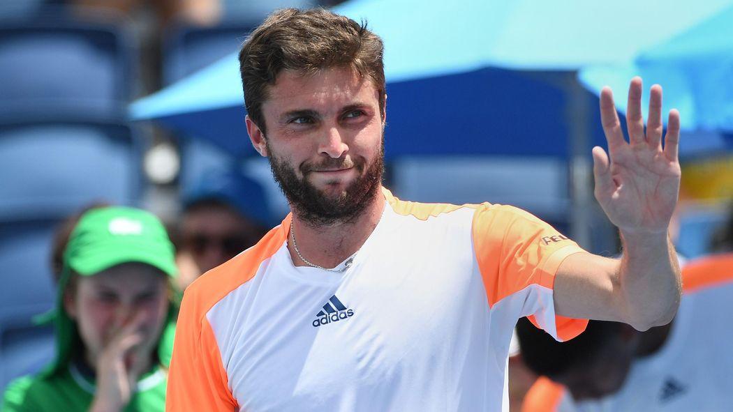 ATP Metz   Gilles Simon domine Radu Albot (6-3, 6-1) en demie et affrontera  Bachinger en finale - ATP Metz 2018 - Tennis - Eurosport 59d4712e1193